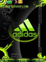 Adidas green theme screenshot