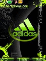 Скриншот темы Adidas green