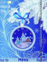 Скриншот темы Holiday Clock