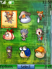 Clock-N3 theme screenshot