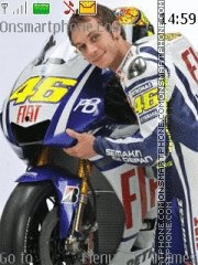 Valentino Rossi 04 theme screenshot