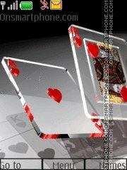 Glass Poker es el tema de pantalla