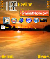 Sunset Ukraine theme screenshot