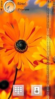 Скриншот темы Orange Flowers 03