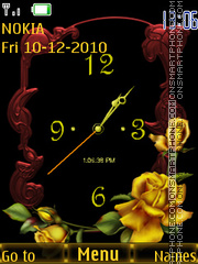 Yellow Roses tema screenshot