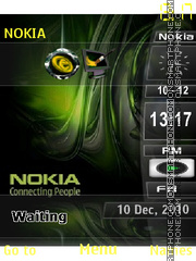Nokia bar green theme screenshot
