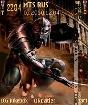 Warrior theme screenshot