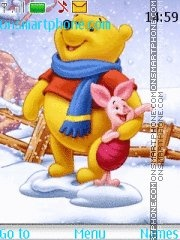 Christmas Pooh Bear theme screenshot