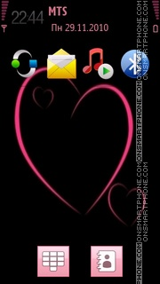 Pink Heart 09 tema screenshot