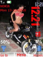Girls With Bikes 2 theme screenshot