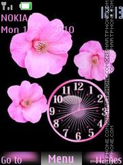 Pink flower theme screenshot