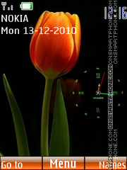 Nice orange tulips tema screenshot