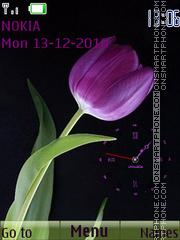 Скриншот темы Purple tulip