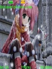 Скриншот темы Anime Snow Sad