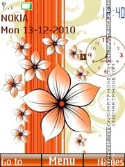 Orange flowers theme screenshot