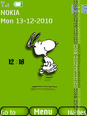 Скриншот темы Animated Snoopy