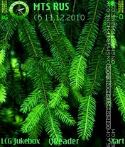 Greens theme screenshot