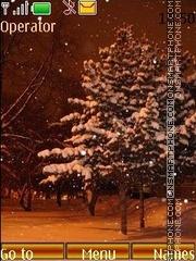 Скриншот темы Winter evening