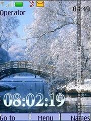 Winter animated swf theme screenshot