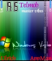 Rainbow Windows Vista theme screenshot