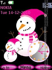 Happy Snowman theme screenshot