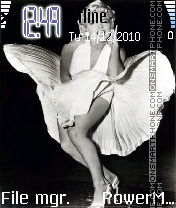 Marilyn Monroe theme screenshot