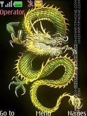 Capture d'écran Dragon animated thème