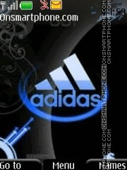Adidas blue theme screenshot