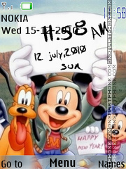 Скриншот темы Mickey Clock N Icons