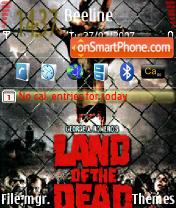 Land of the Dead theme screenshot