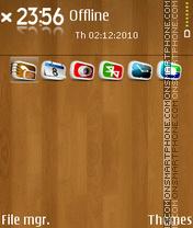 Скриншот темы Wood 04