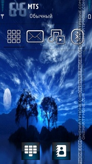 Blue Nature 02 theme screenshot