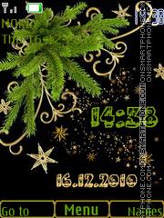 Holiday Clock theme screenshot