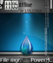 Water Drop es el tema de pantalla