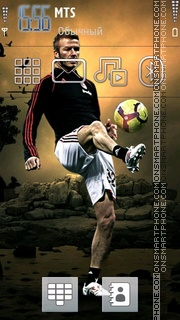 David Beckham 13 tema screenshot