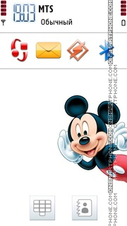 Micky Mouse 01 theme screenshot