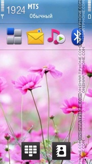 Pink Flowers 05 theme screenshot