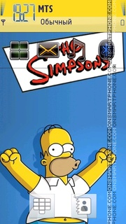 Simpsons 08 theme screenshot