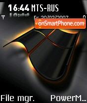 Black Windows 2b theme screenshot