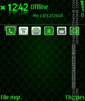 Скриншот темы Sillky green