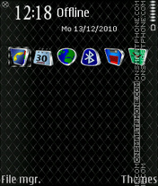 Скриншот темы Exile