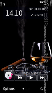 Cognac N Cuban Cigar theme screenshot