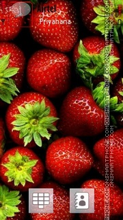 Strawberries 02 theme screenshot