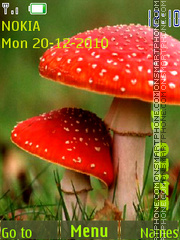 Mushroom Clock theme screenshot