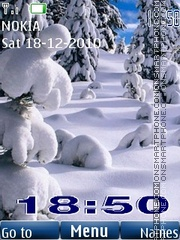 Winter 24 landscape theme screenshot