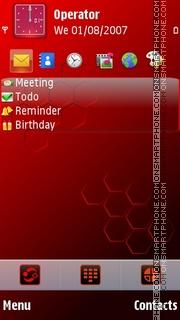 Red Prism theme screenshot