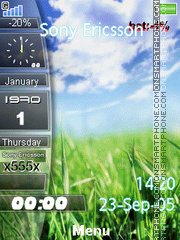 Nature Clock 05 theme screenshot