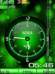 Green Animated swf theme screenshot