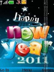 Happy New Year 2011 07 theme screenshot