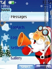 Santa Clock theme screenshot